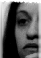 Egle Oddo, selfportrait. Black and white 35mm negative.